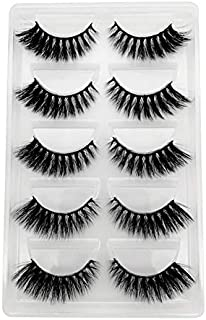 JSZWGC 1box eylashes nertsen valse wimpers 5pairs wimpers nerts wimpers natrual make-up 3D (Color : G909W, Length : Eyelas...