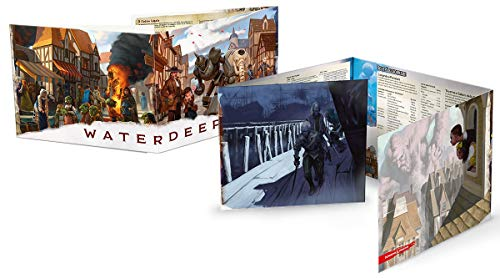 Asmodee Italia- Dungeons & Dragons-5a Edizione-Waterdeep: Schermo del DM, Colore, 4025