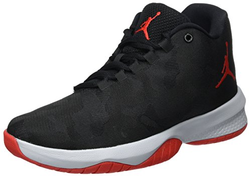 Nike Nike Mädchen Jordan B. Fly Bg Basketballschuhe, Schwarz (Black/University Red/Wolf Grey/University Red), 38.5 EU