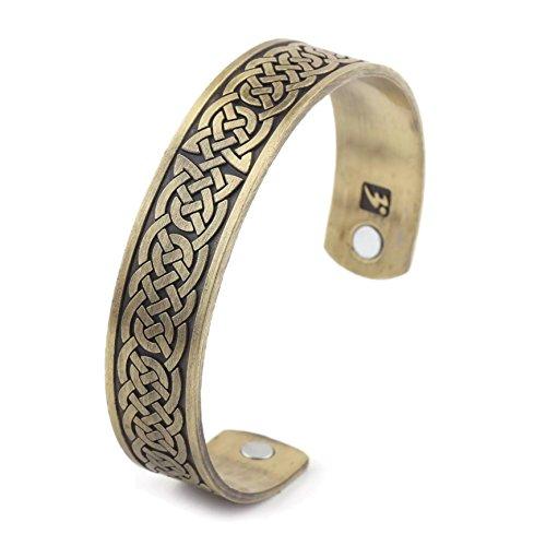 URBANTIMBER Magnetischer Wikinger Armreif Keltische Knoten 2 - Silber/Bronze/Gold