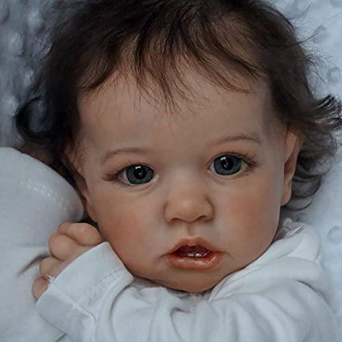 Reborn Baby Dolls Muñecas recién Nacidas Muñeca recién Nacida e Baby Lovely Real Realista Aspecto Realista Reborn Baby Girl Vinilo Suave Silicona Bebé