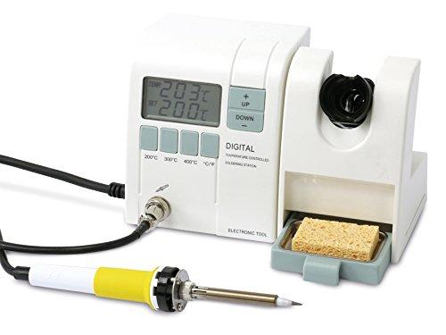 Preisvergleich Produktbild DAYTOOLS professionelle digitale Lötstation LS-937, Lötkolben mit 48 Watt Leistung,  großes digitales mit Temperaturanzeige,  stufenlose Temperaturwahl bis 450°C,  Netzschalter,  Reinigungsschwamm,  Lötspitze,  Dierektwahltasten (200 / 300 / 400°C)