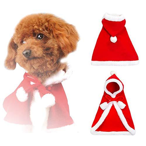 Petilleur Disfraces para Perros y Gatos Navidad Ropa Mascotas Navidad para Perros Pequeños y Gatos (S)