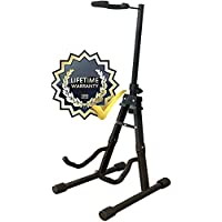 Gleam Guitar Stand Universal for Acoustic Electric, Classic Guitars & Bass