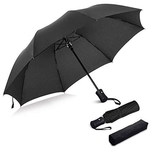 Ombrello pieghevole Forte Antivento Ombrello Ventilato Auto Open /& Close Nero tra.