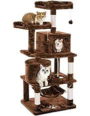 キャットタワー 猫タワー 大型猫 ネコタワー 天然サイザル麻紐 2つ猫ハウス 猫 ハンモック 多頭飼い ねこ タワー 転倒防止 安定性抜群
