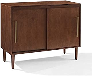 Crosley Furniture CF1103-MA Everett Mid-Century Modern Media Console, Mahogany