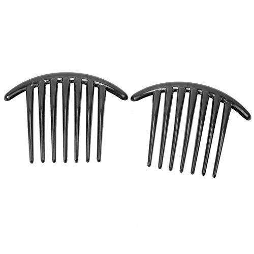 2pcs Noir Peigne de cheveux peigne poche à douille en plastique Peigne consolider cheveux bijoux