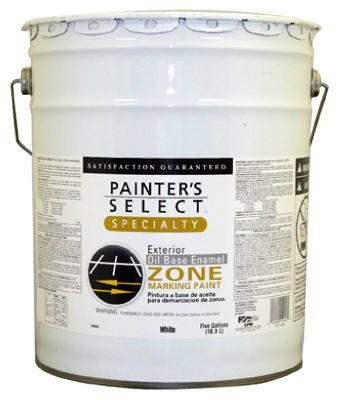True Value 1010-5G Painter's Select Specialty White Flat Oil Based Zone Marking Paint, 5-Gallon
