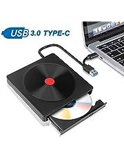 Eletorot Grabadora DVD/CD Externa Usb 3.0,Portátil Unidad de CD / DVD /-RW / ROM Estable con Lector para Windows 10/ 7/8 / Vista/XP/Mac OS/Macbook/Desktop Linux, Laptop