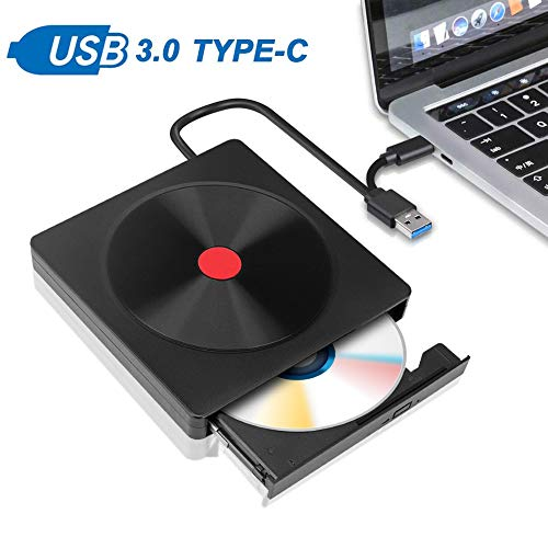 Eletorot Grabadora DVD/CD Externa Usb 3.0,Portátil Unidad de CD / DVD /-RW / ROM Estable con Lector para Windows 10/ 7/8 / Vista/XP/Mac OS/Macbook/Desktop Linux, Laptop