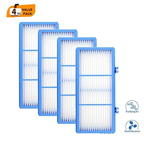 DerBlue 4pcs Replacement HEPA Filters for Holmes AER1 HEPA Type Total Air Filter,HAPF30AT for Purifier HAP242-NUC