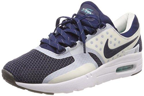 Nike Herren Air Max Zero QS Laufschuhe, Weiß/mittleres Marineblau / (Rftbl Hypr Jd), 36.5 EU
