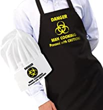 ghi Novelty Apron and Chef's Hat Set - Danger Man Cooking