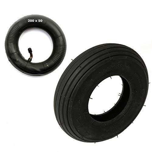 Neumático Y Cámara 200x50 4 Capa Acanalado Diseño 200 x 50 8x2 Para Patinete Eléctrico