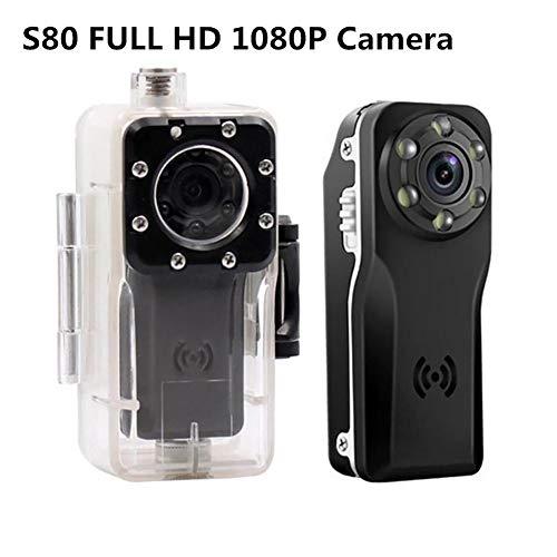 FafSgwq Portátil 1080P IR Visión Nocturna Sensor De Movimiento Grabación De Video Deportes Mini Cámara Equipo Automotriz Negro