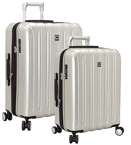 DELSEY Paris Titanium Hardside Expandable Luggage with Spinner Wheels, Silver, 2-Piece Set (21/25)