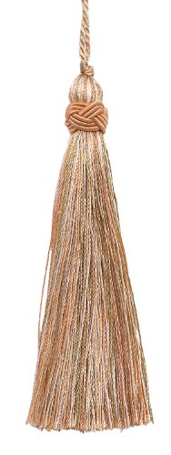 Set of 10 Decorative Lt Peach, Olive Green, Ivory 10cm Tassel, Imperial II Collection Style# ITS Color: PRAIRIE PEACH - 3853
