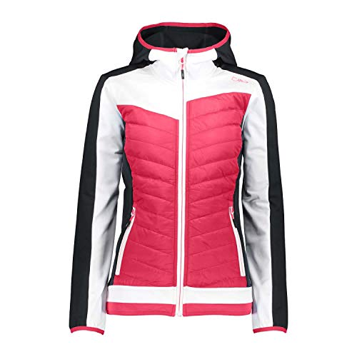 CMP Damen Jacke Woman Fix Hood Hybrid Jacket 31E5736 Fragola 38