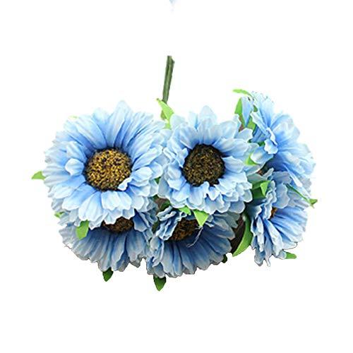 Oce180anYLVUK Flor Artificial Sin Olor Herramienta para Hacer Guirnaldas Tela Crisantemo Artificial para Accesorios Fotográficos (5.91inx5.91inx3.94in) Azul