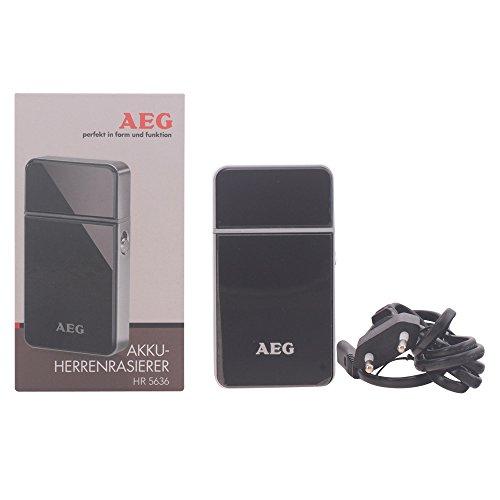 AEG HR 5636 - Afeitadora eléctrica con batería recargable, color negro