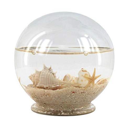Adorno Sobremesa Decorativo de Cristal Bola Marinera con Arena Figuras y Esculturas. Decoración Hogar. Regalos Originales. 9 x 9.5 x 9.5 cm.