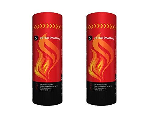 Smartwares set di 2 supermaneggevole, spray antincendio per incendi iniziali per la casa, Auto, campeggio; FS600