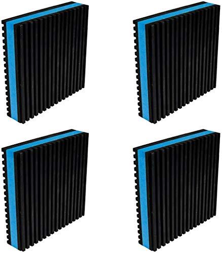 BJADE'S Anti-Vibrationsisolierende Gummi-Pads, 10 x 10 x 2,25 cm, strapazierfähiges EVA-Pad für HVAC, Luftkompressor, Klimaanlage, Waschmaschine und Trockner