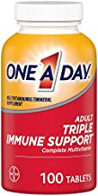 One A Day Adult Triple Immune Support* Complete Multivitamin, Supplement with Vitamins C, Vitamin D, & Zinc, 100 Count