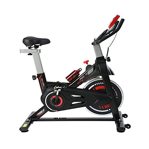 Bicicleta de spinning Bicicleta De Ejercicios, Ciclismo Interior Bicicletas De Ejercicios Para El Hogar, Máquinas Bicicletas De Ejercicios, Cinturón / Rueda Volante / Soporte / Asiento Ajusta(Color:A)