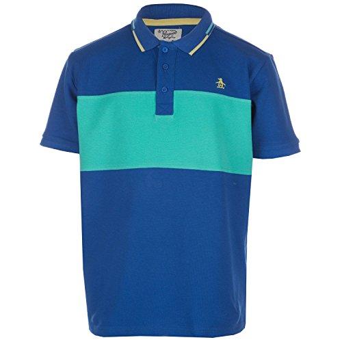 Original Penguin Boy's Contrast Polo Shirt 10-11 Blue
