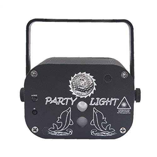MICHAELA BLAKE LED-Projektor-Licht, Sternenhimmel Light 2-Loch 60-Muster Blinkender Sound Control USB-Kabel Schwarz Lade
