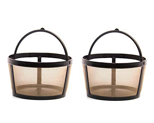 GoldTone Reusable 4 Cup Basket Mr. Coffee Replacement Coffee Filter - Mr. Coffee Permanent Coffee Filter for Mr. Coffee Maker and Brewer (2 Pack])