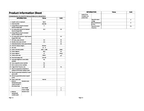 BenQ GW2780 68,58 cm (27 Zoll) LED Monitor (Full-HD, Eye-Care, IPS-Panel Technologie, HDMI, DP, Lautsprecher) schwarz - 15