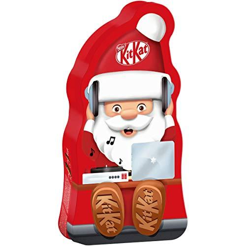 scatola regalo Latta cioccolatini a forma di Babbo Natale Kit Kat 131 gr Nestlè