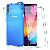 KEEPXYZ Funda para Samsung Galaxy A30s / A50 / A50s + 2 Pcs Protector de Pantalla para Cristal...