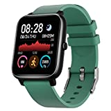 Smart Watch, Fitness Tracker with Heart Rate Monitor Sleep Monitor & 1.3 Inch Color Touch Screen, IP68 Waterproof Step Counter for Women and Men, Compatible with iOS & Android (Green)