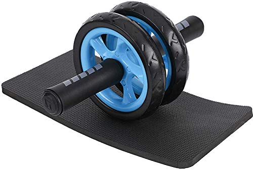 lif Rodillo doble abdominal, rodillo de ejercicio abdominal con rodillera extra gruesa y asas de espuma cómodas, entrenadores abdominales de doble rueda para fitness entrenamiento de fuerza