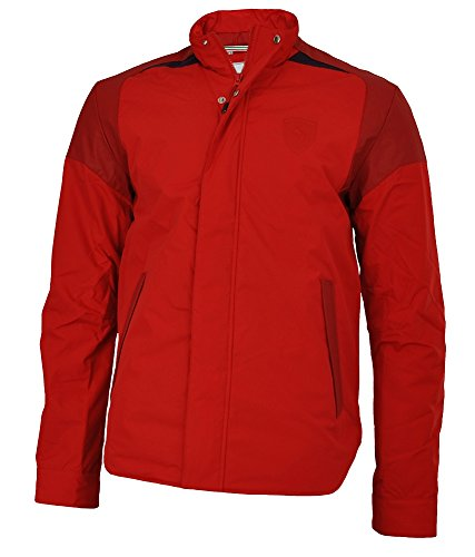 PUMA Scuderia Ferrari Padded Jacket Mens Herren Winterjacke Jacke Rot, Grösse:M