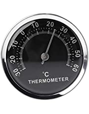 suoryisrty Mini 58mm Termómetro de Coche Medidor de Temperatura analógico mecánico con Etiqueta Adhesiva