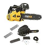 Maxx Tronçonneuse à essence élagueuse - 25 cm - Avec 2 chaînes et barre de...