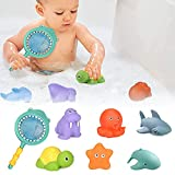 Wasserspielzeug für Baby,7 Stück Badewannen Spielzeug Badespielzeug Badewanne Badetiere,Badespielzeug Set Baby für Kleinkinder Mädchen Junge Badegeschenk für Den Sommer