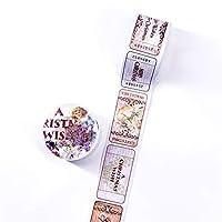 独立して DIYスクラップブッキング用粘着テープ30mmx5m用レトロなスタンプの手紙旅行の装飾的な和紙テープ紙 共同パートナーシップ (Color : E)