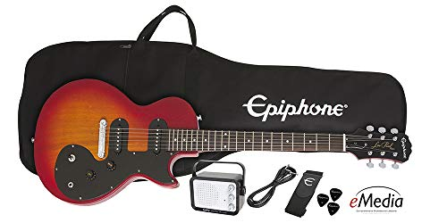 Epiphone Les Paul SL Starter Pack - Includes Mini Amp, Gigbag, Tuner, Picks, and Strap - Sunset Yellow