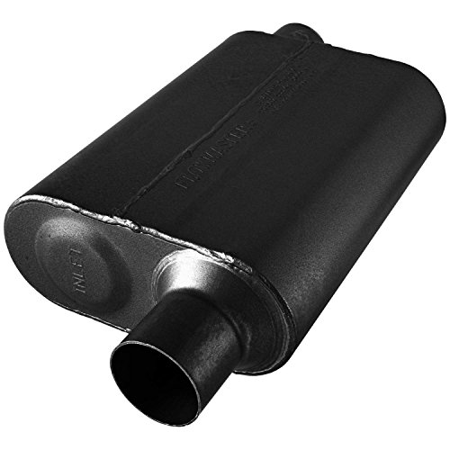 Flowmaster 8042543 40 Series Muffler 409S - 2.50 Offset IN / 2.50 Offset OUT - Aggressive Sound Black