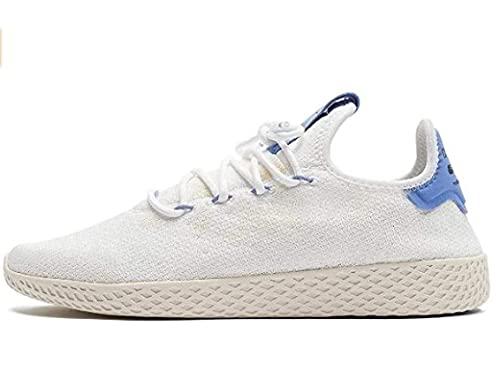 adidas Pharrell Williams Tennis Hu - Zapatillas para hombre, Blanco (Cloud White / Real Lilac / Chalk White), 44.5 EU
