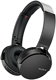 Sony 索尼 MDRXB650BT/B 系列重低音无线立体声耳机,黑色 黑色 中