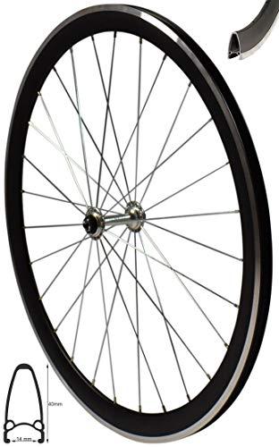 Redondo 28 Zoll Vorderrad Laufrad V-Profil Rennrad Felge Schwarz Silber