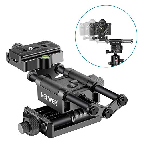 Neewer Pro 4-Way Macro Focusing Focus Rail Slider with 1/4-Inch Quick Shoe Plate Compatible with Canon Nikon Pentax Olympus Sony and Other DSLR Cameras and Camcordes Great for Close-Up Shooting
