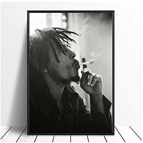 A&D Bob Marley Sänger Musik Poster Drucken Musik Band Star Poster Wandkunst Bilder Malerei Room Home Decor Leinwand Print-50x70cmx1pcs-Kein Rahmen